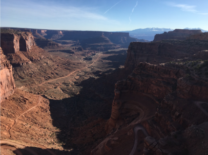 As close as we got to the Shafer Trail switchbacks