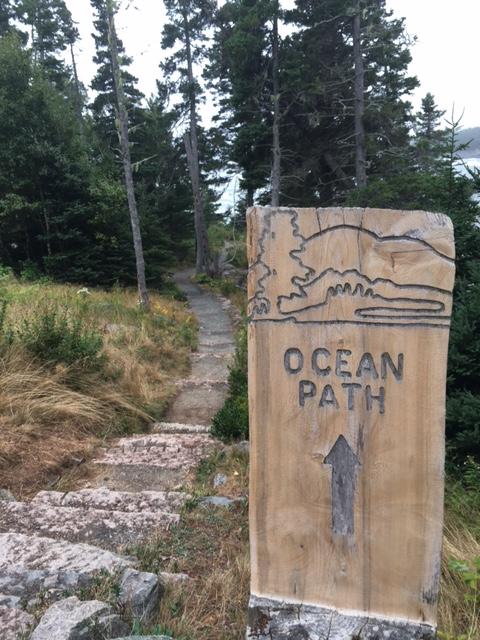 Ocean Path trailhead at Otter Point