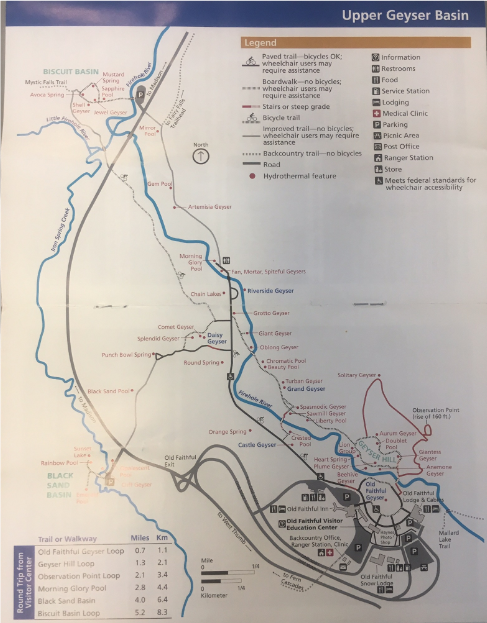 upper geyser basin map