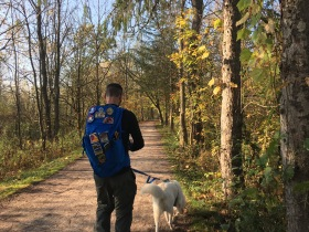 Shawn and Niko on the Towpath Trail, Cuyahoga Valley National Park, OH
