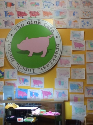 Eat breakfast at The Oink Cafe