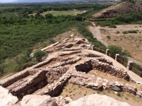 Walk to the top of a pueblo at Tuzigoot National Monument